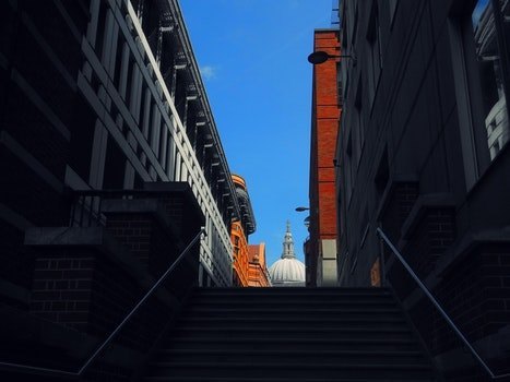 Free stock photo of stairs, city, sky, clouds