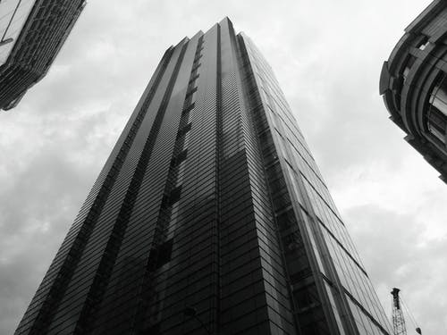 Worm's Eye View of Concrete High-rise Building