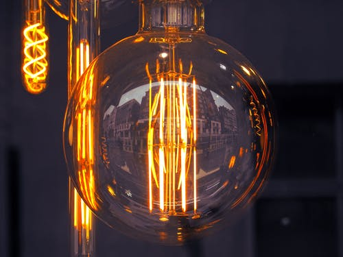 Lighted Clear Glass Light Bulb