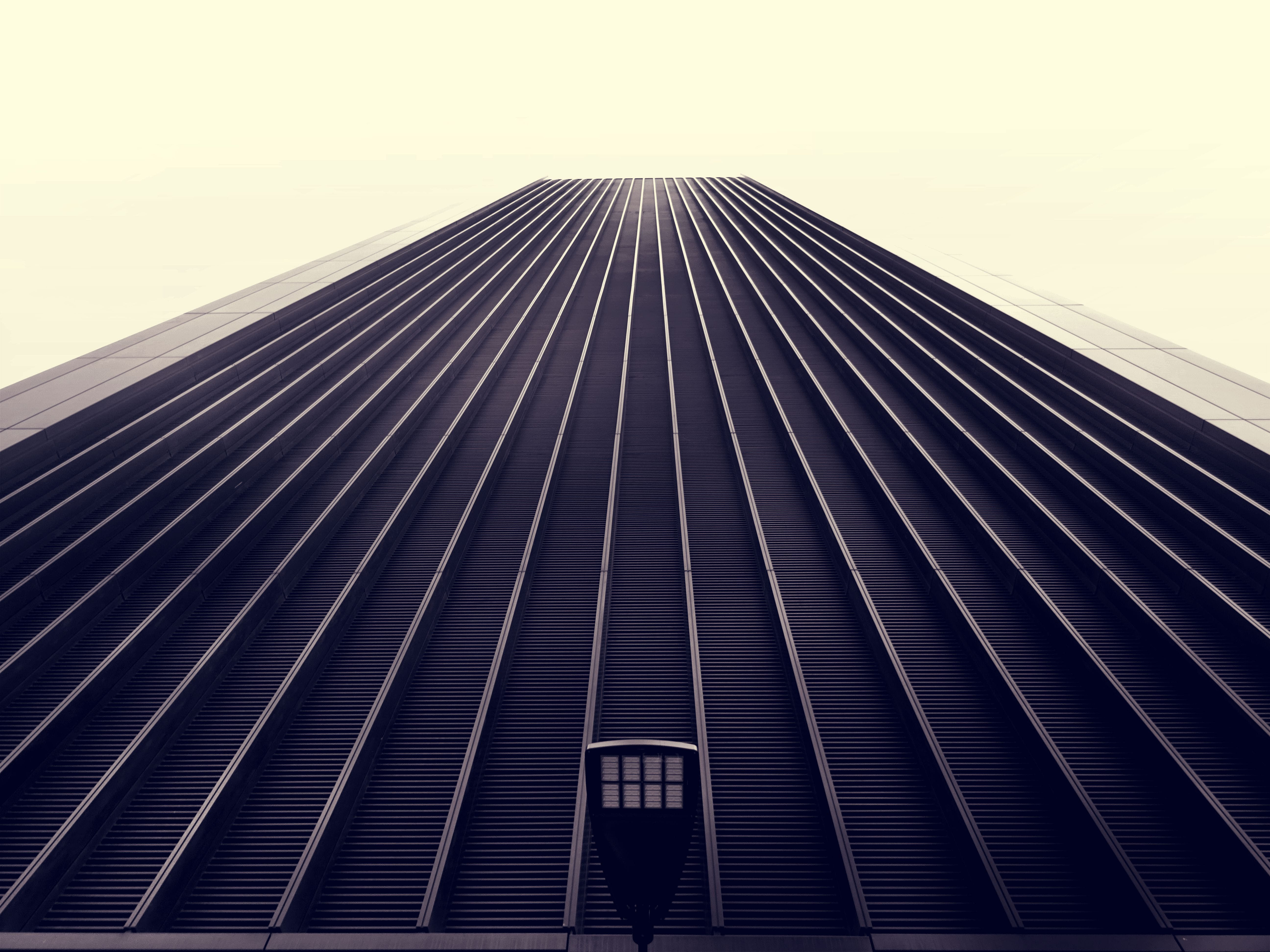 Worm's Eye View of Black Concrete Building