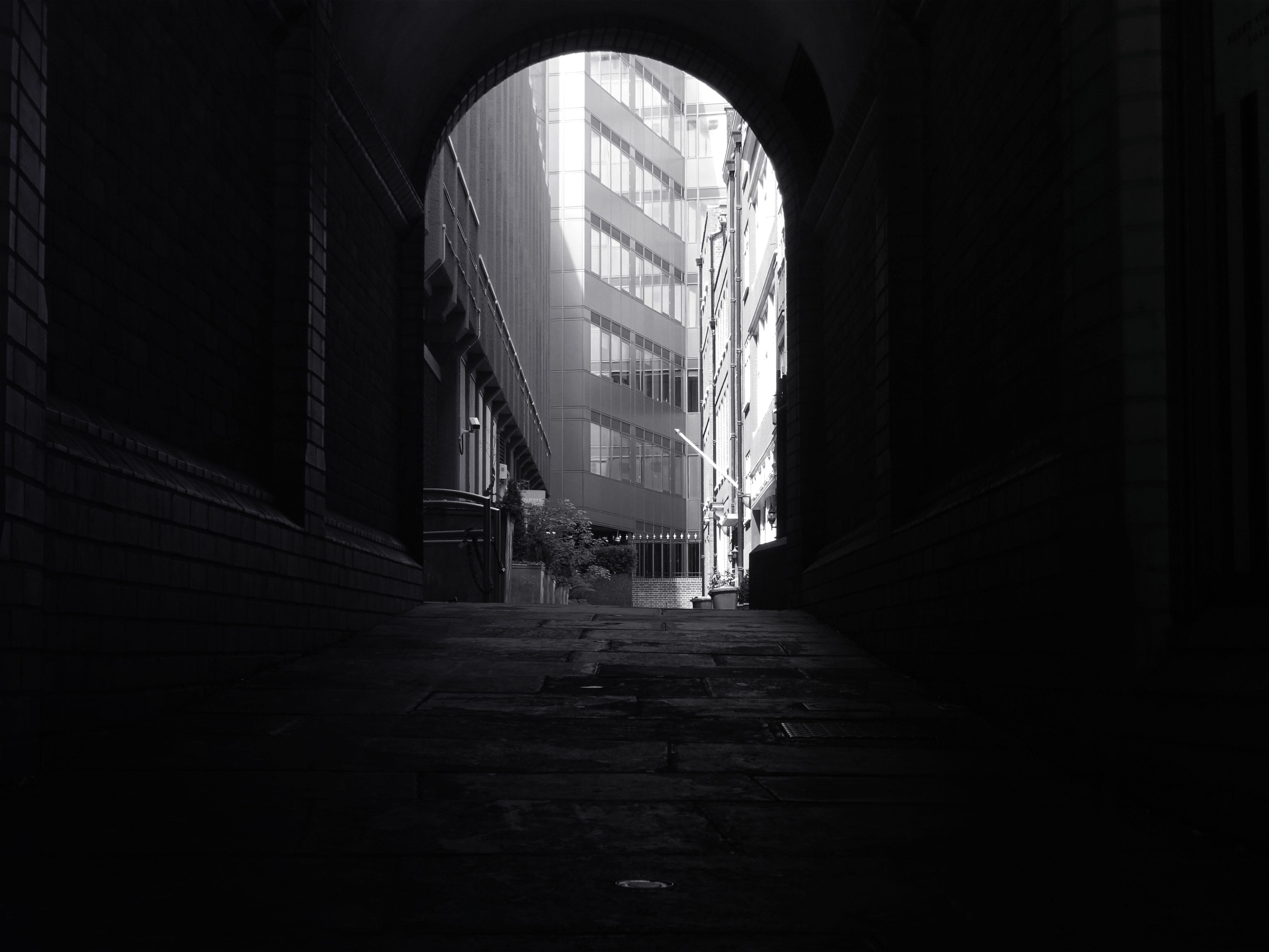 Free stock photo of black-and-white, city, landscape, street