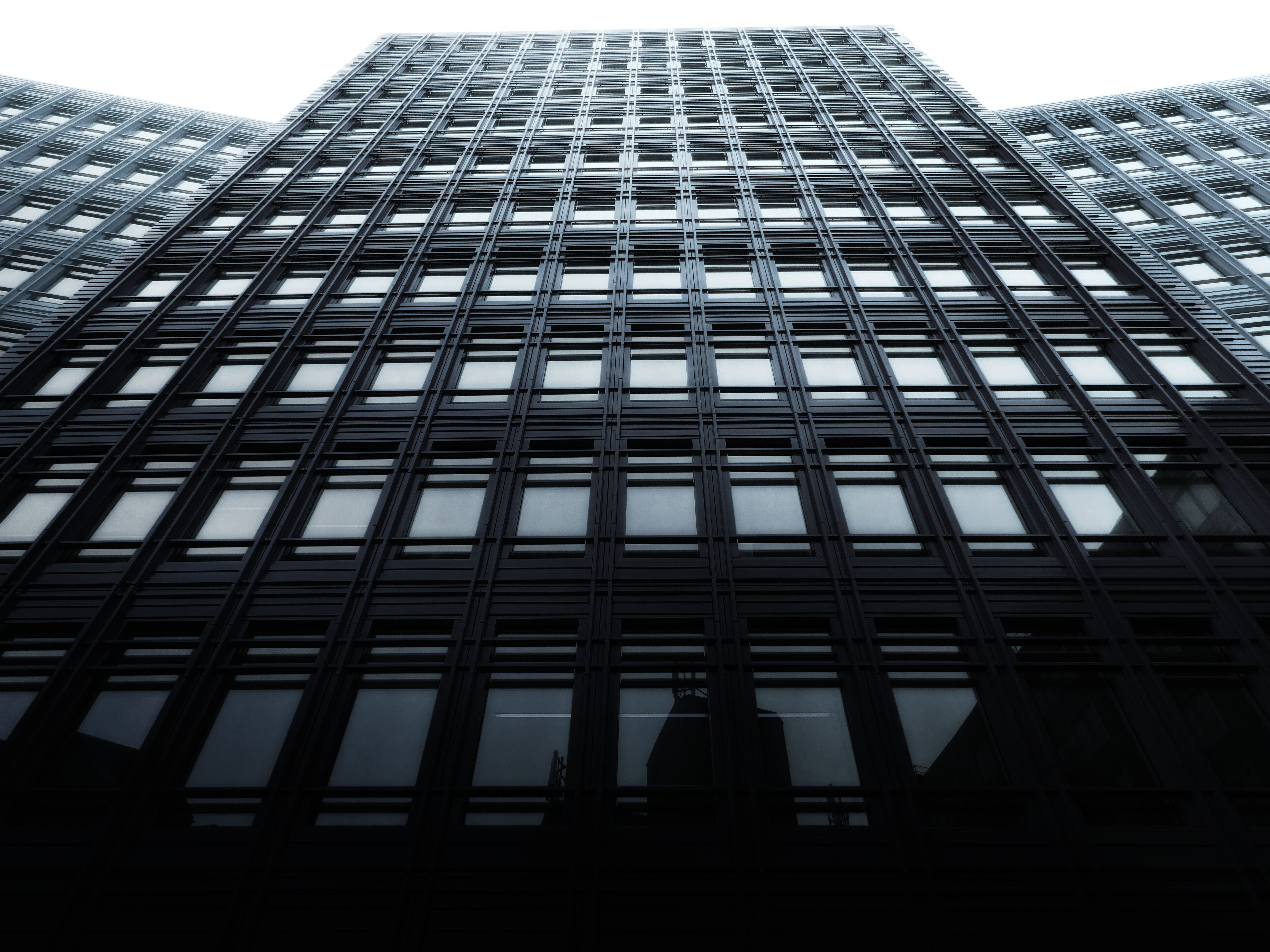 Low Angle Photography of Black and Gray Building