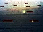 light, city, building
