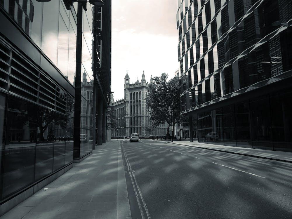 交通系統, 低角度拍攝, 光