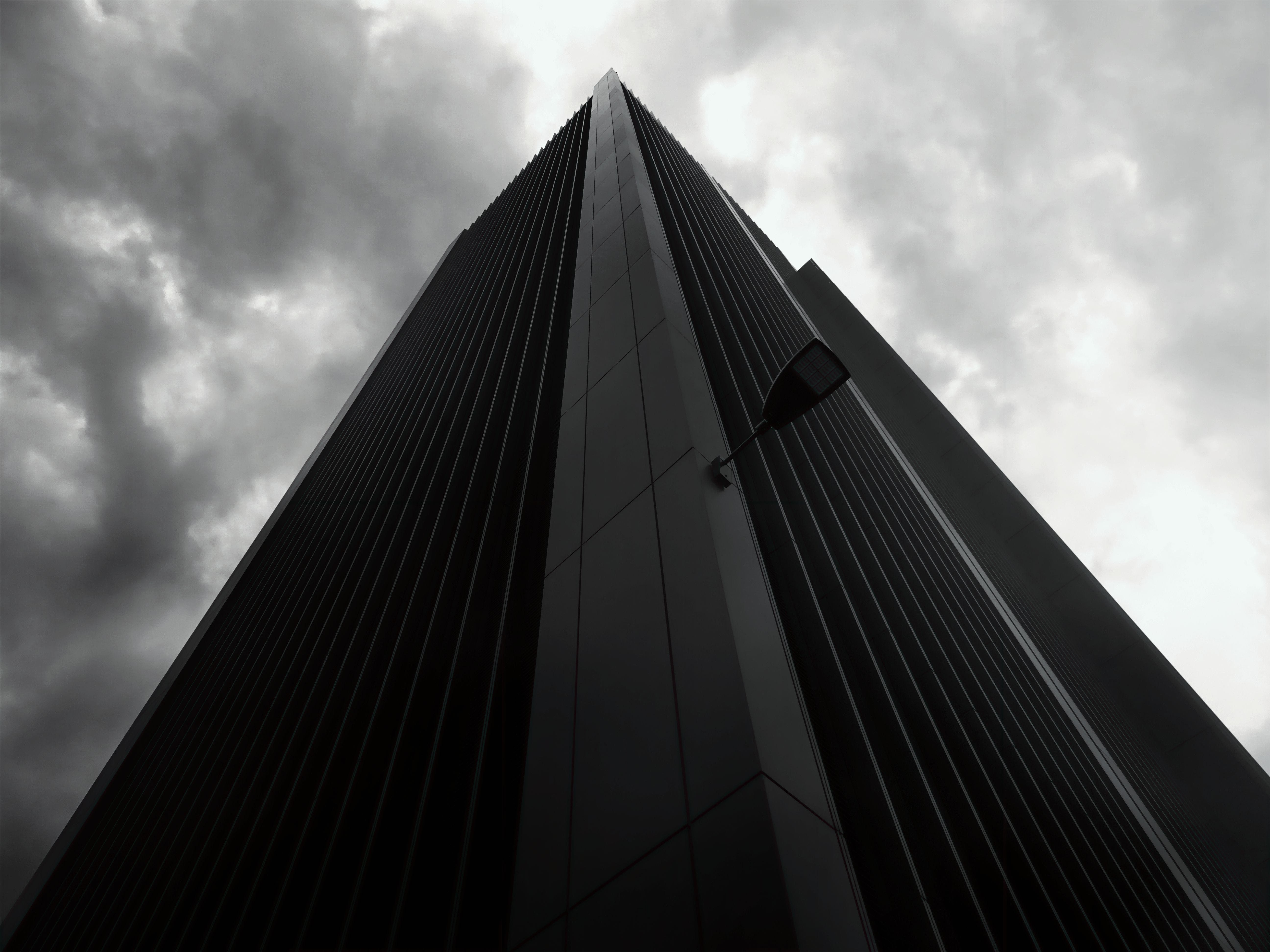 Building Under Cloudy Sky