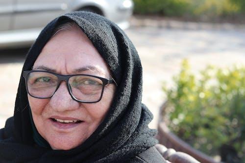 Free stock photo of beautiful smile, eye glasses, grandma, islamic