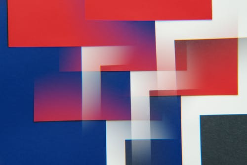 Blue White and Red Textile