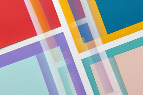 Blue Yellow and Red Striped Textile