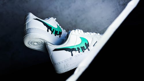 Close-Up Photo of a Stylish Nike Air Force 1