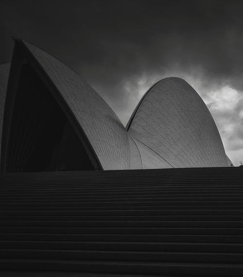 Exterior details of Opera House in Sydney