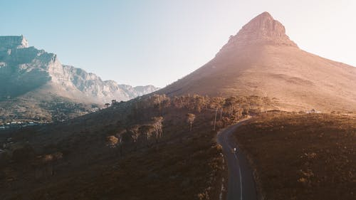 Aerial View of the Table Mountain National Park in South Africa