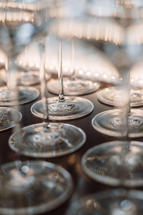Бесплатное стоковое фото с бокал вина, винные бокалы, кристалл