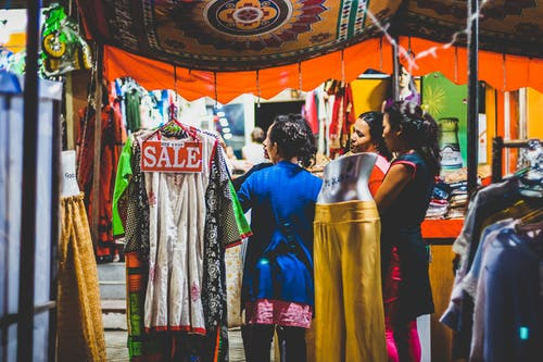Free stock photo of ladies, ladies shopping, sale