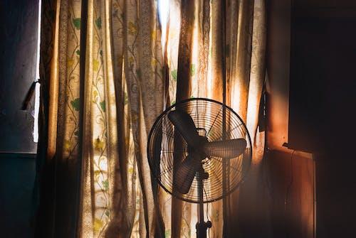 Free stock photo of curtain, daylight, daytime, fan
