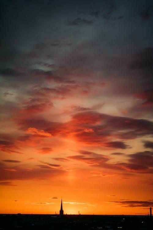 açık hava, akşam, akşam karanlığı, cennet içeren Ücretsiz stok fotoğraf