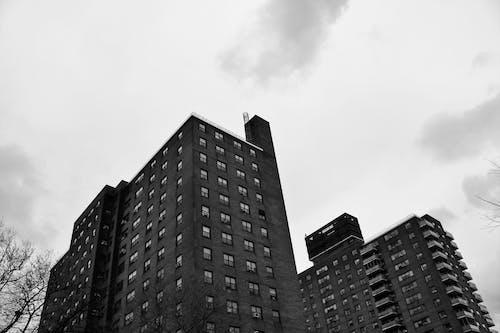 Facade of modern tall condominium complex