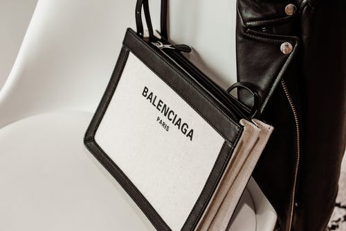 Black and White Leather Bag