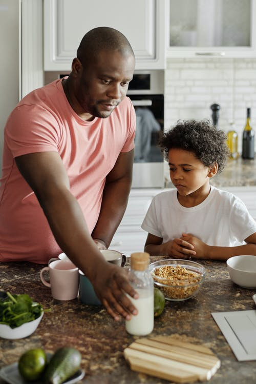 Father Making Breakfast for his Son