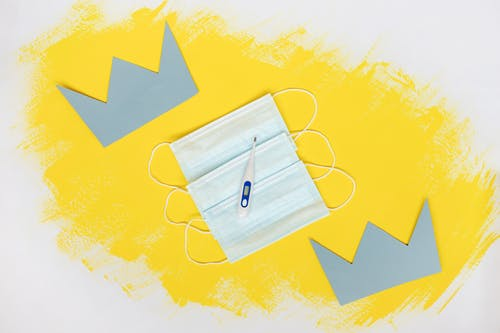 White Paper on Yellow and White Star Print