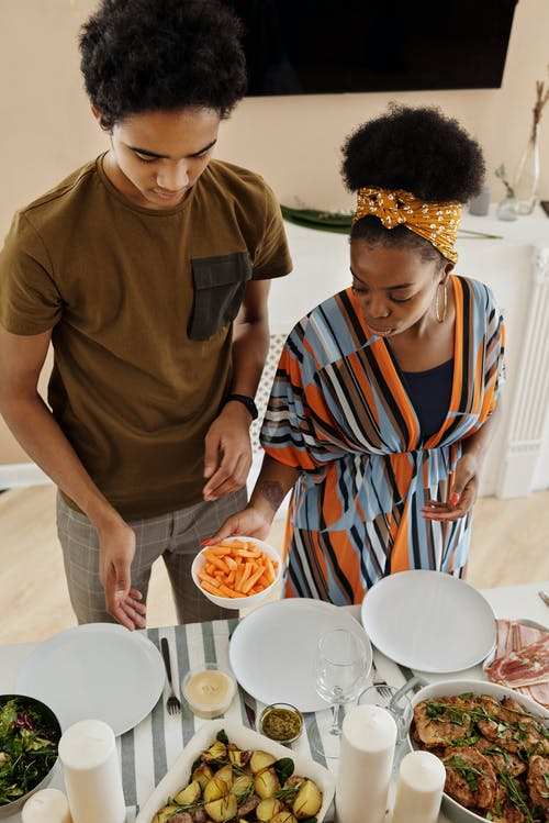 Photos gratuites de afro, afro-américain, aliments, angle élevé