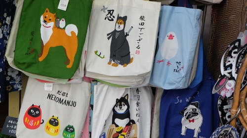 Free stock photo of bags, dog, japan souvenir
