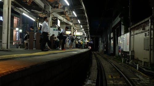Free stock photo of platform, rail, standing