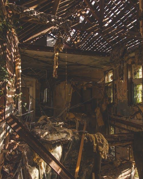 不気味, 廃墟, 放棄された建物, 減衰の無料の写真素材