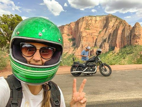 Free stock photo of adventure, harley davidson, helmet