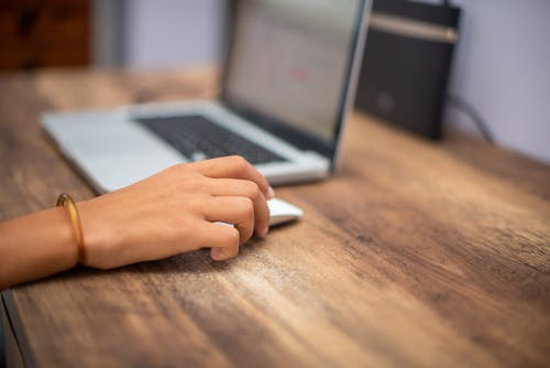 Free stock photo of at home, computer, hand