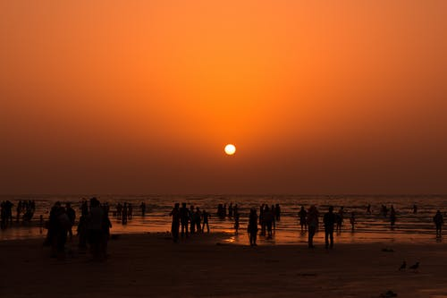 Free stock photo of adults, beach, beach sunset, Beautiful sunset