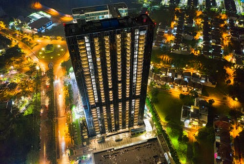 Aerial Photo of High-Rise Building