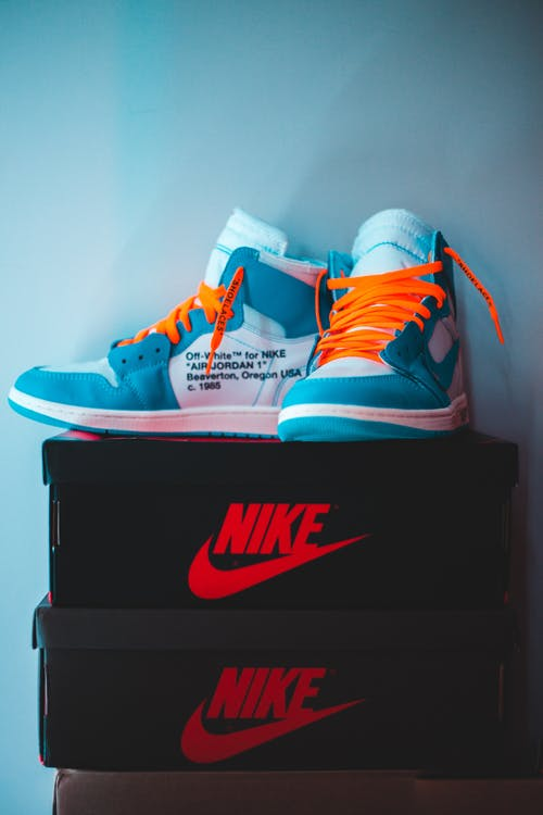 Photo of High Top Sneakers on Nike Box