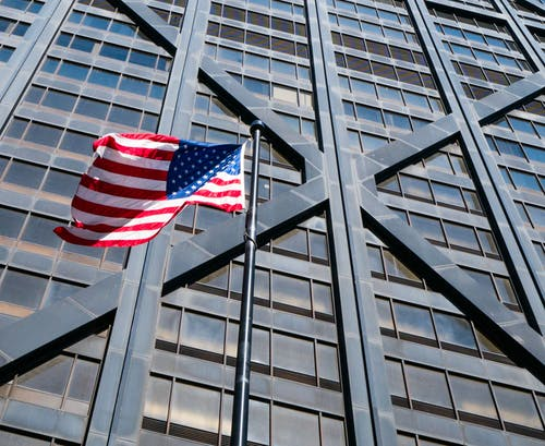 アメリカ, アメリカの国旗, シカゴ, ジョンハンコックの無料の写真素材