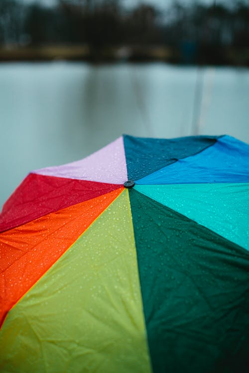 Red Yellow Green and Blue Umbrella