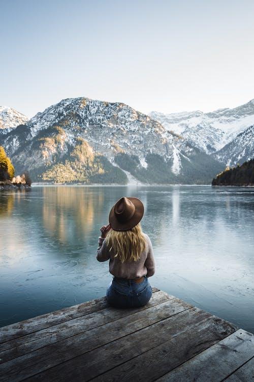 Gratis stockfoto met 1 persoon, Alpen, avontuur, berg