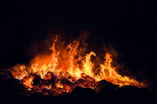 Photo of Flames During Night Time