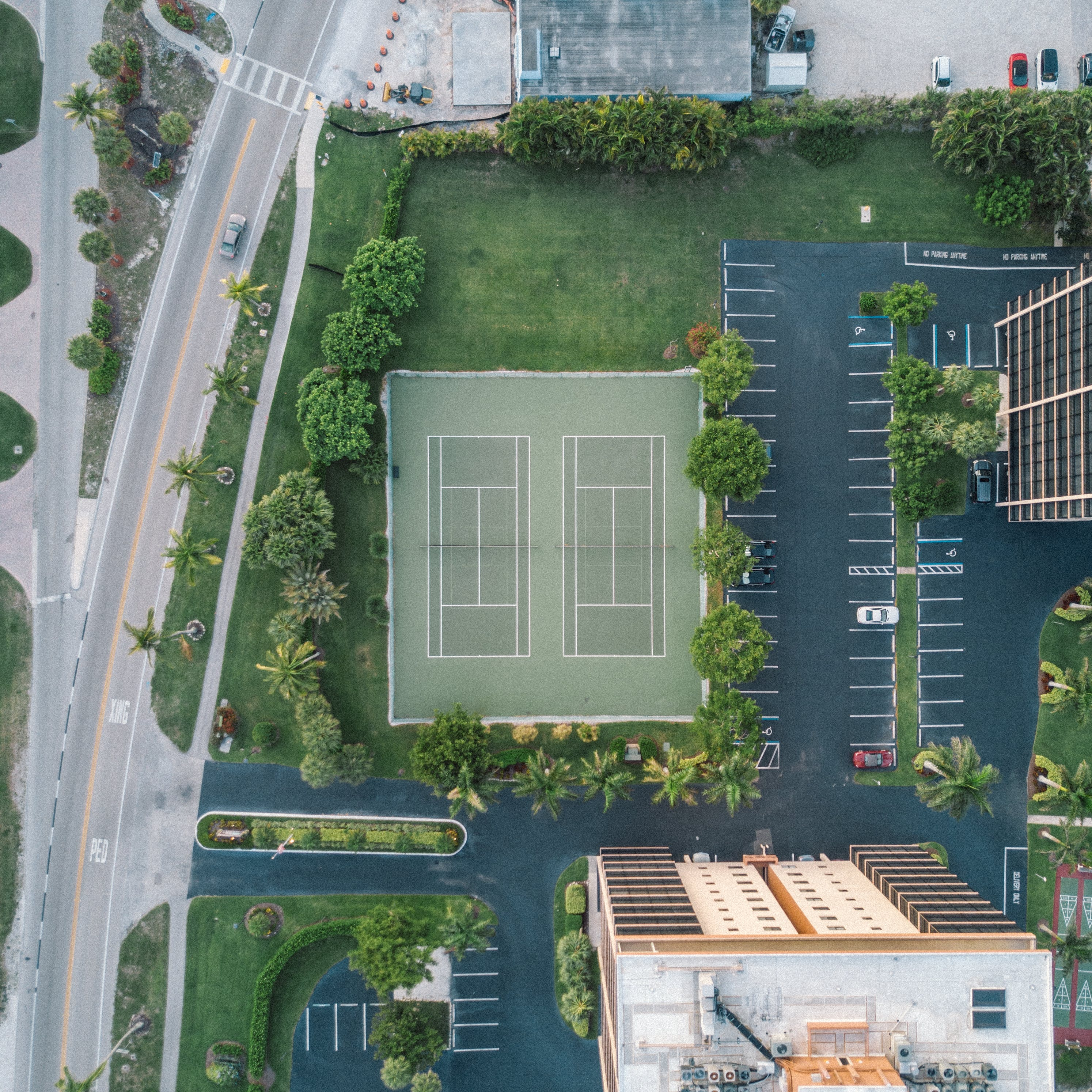 Aerial Photography of Green Lawn