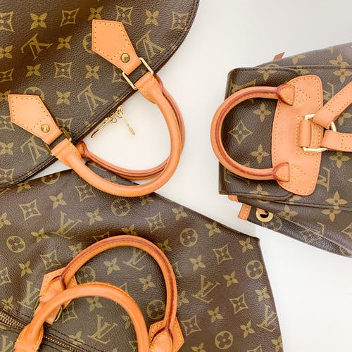 Brown Louis Vuitton Monogram Leather Handbag