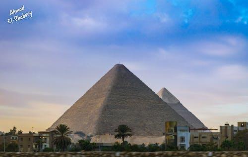 giza, Mısır, Mısırlı, piramitler içeren Ücretsiz stok fotoğraf