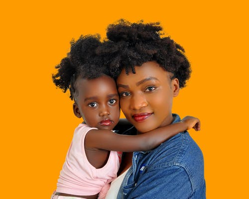 Kostnadsfri bild av afrikansk amerikan kvinna, afrikansk amerikan tjej, afro, barnomsorg