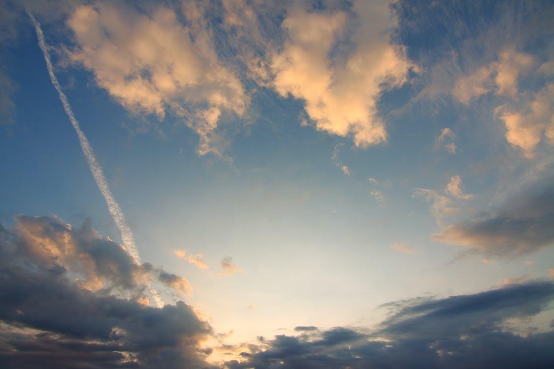 cielo, dramático, formación de nubes