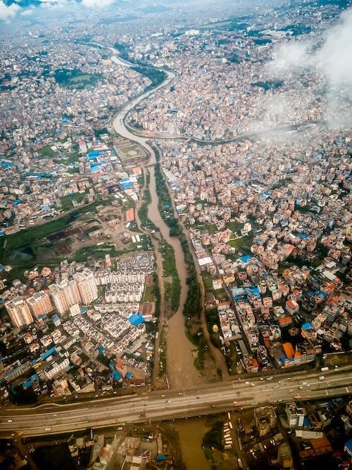 Free stock photo of aerial shot, kathmandu, lalitpur