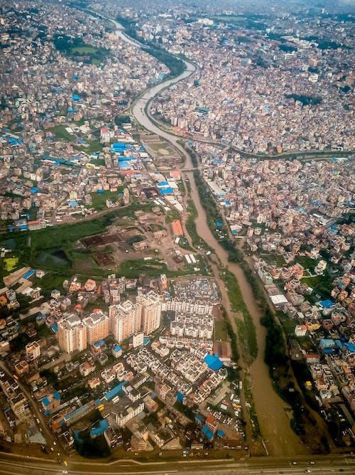 Free stock photo of aerial image, aerial shot, kathmandu