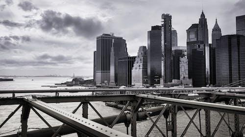 Free stock photo of architecture, b&w, bridge, city