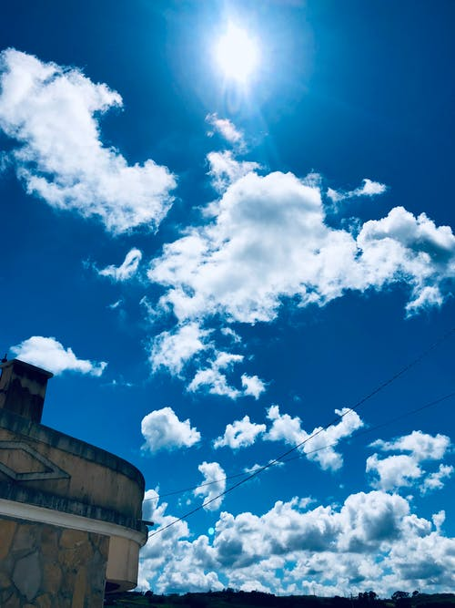 Free stock photo of beautiful sky, blue sky, clouds, sun