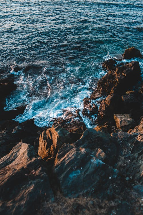 アクア, さざ波, シースケープの無料の写真素材
