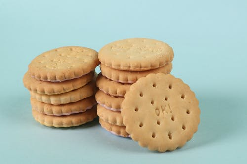 Free stock photo of blue background, cookies, ok