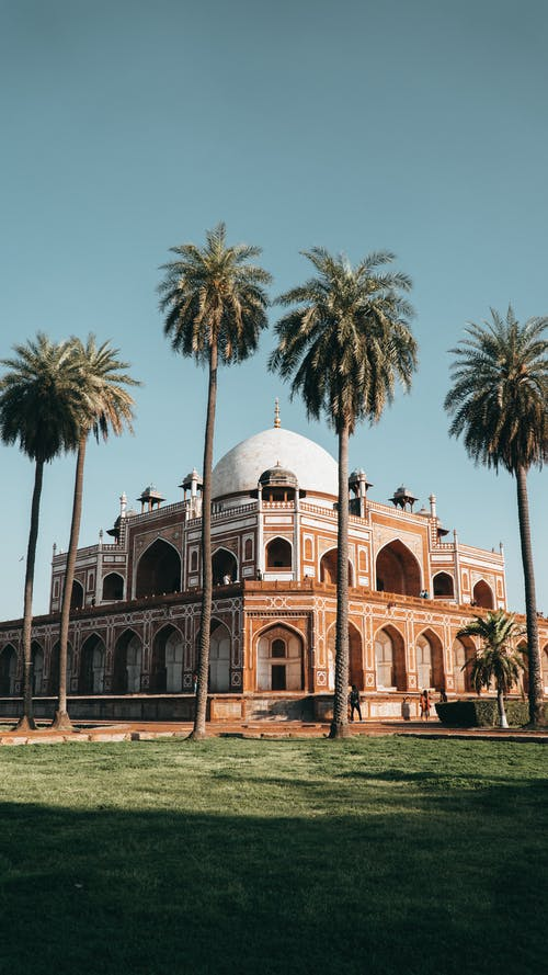 Old oriental palace on sunny day