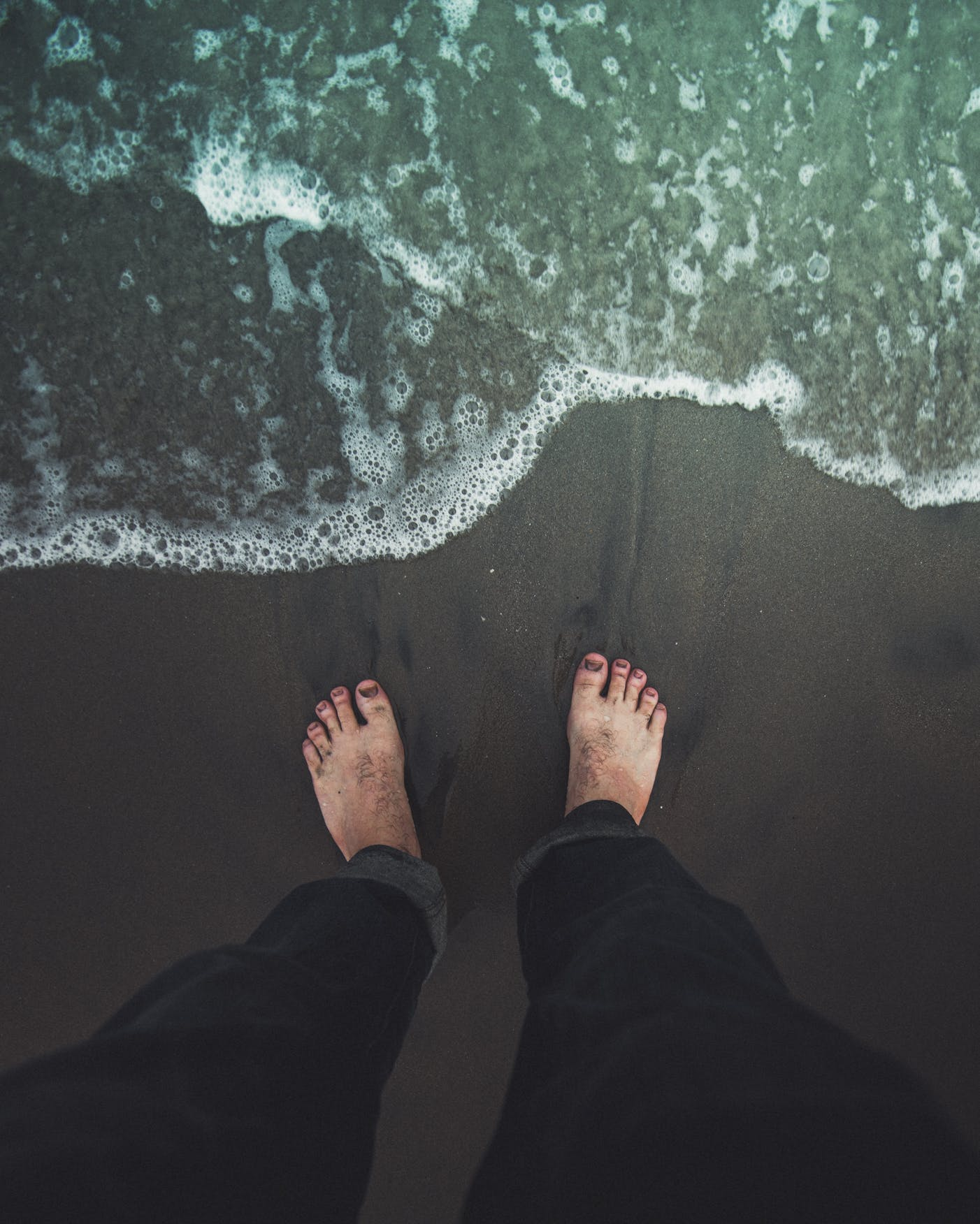 Kostenloses Stock Foto zu meer, strand, sand, füße