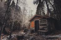 wood, landscape, rocks